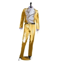 Mens festive costume clothes on a mannequin vector