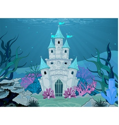 Mermaid castle vector