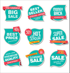 Modern sale stickers and tags collection vector