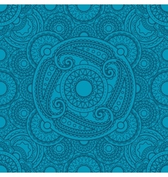 Mystical blue pattern with mandalas vector