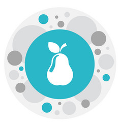 Of food symbol on pear icon vector