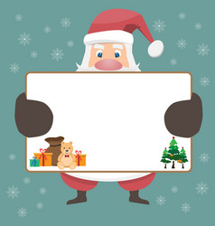santa cluas cartoon and merry christmas vector image
