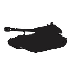 self-propelled artillery vector image vector image