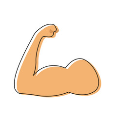 Strong power muscle arm biceps icon vector
