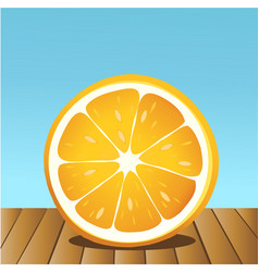 summer orange fruit vector image vector image