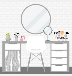 with make-up table chair vector image vector image