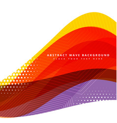 Colorful abstract wave background design vector