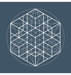 Sacred geometry symbol or element vector