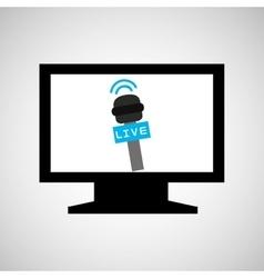 Tv plasma digital news icon vector