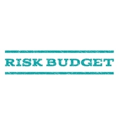 Risk budget watermark stamp vector