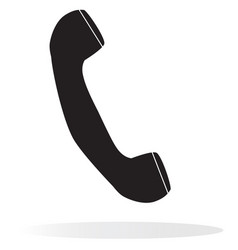 telephone receiver on white background vector image