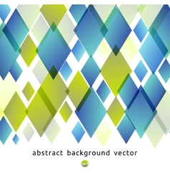 Abstract background of blue and green diamonds vector