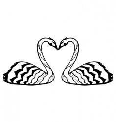 swan in love vector image