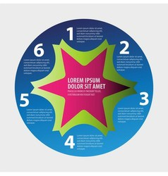 Abstract paper infografics in a circle shape vector