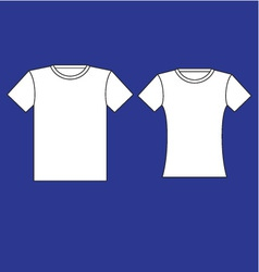 Male and female t-shirt template vector image