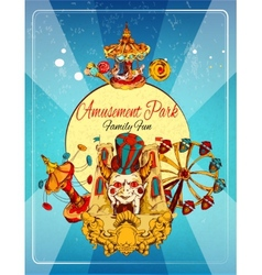 Amusement park poster vector