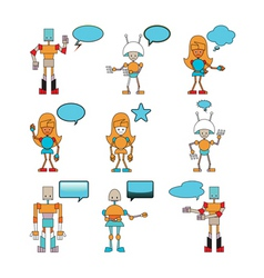 funny robots vector image