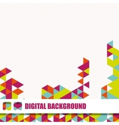 Background of different color triangles vector