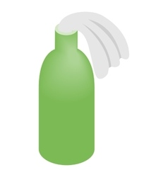 Glass bottle filled with gasoline vector