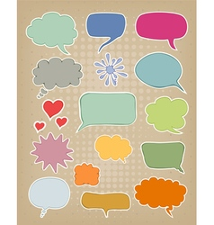et of multicolored speech bubbles vector image
