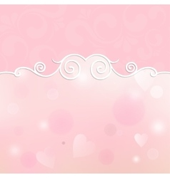Beautiful frame for design on a pink background vector