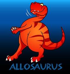 Allosaurus cute character dinosaurs vector