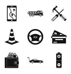 Belay icons set simple style vector