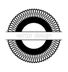 Black rosette vector