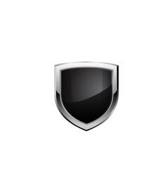 Black steel shield vector image