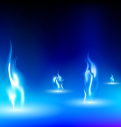 blue flame on a black background vector image