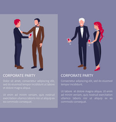 Corporate party visualization vector