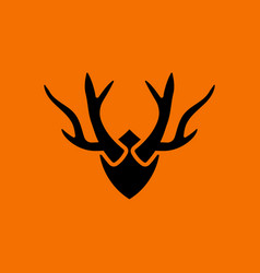 Deers antlers icon vector