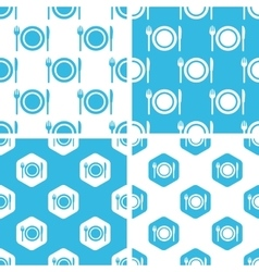 Dishware patterns set vector