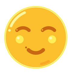 Emoji of smiley face in flat design icon vector