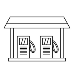 Gas station icon outline style vector image vector image