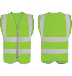 Green safety vest vector