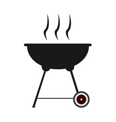 Isolated grill silhouette vector