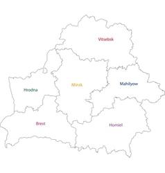 Outline Belarus map vector image