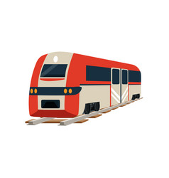 Railway locomotive or passenger car vector