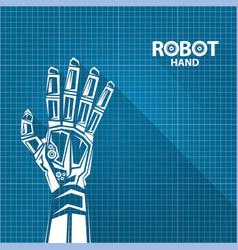 Robotic arm symbol on blueprint paper royalty free vector robotic arm symbol on blueprint paper vector image malvernweather Choice Image