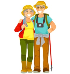 senior travellers vector image vector image