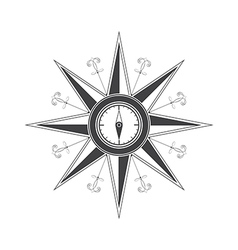 Simple compass rose vector