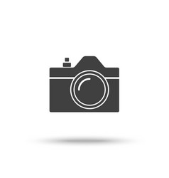 slr camera icon isolated on white background vector image