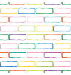 Stylized multicolor brick wall pattern vector