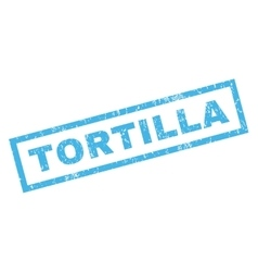 Tortilla rubber stamp vector