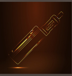 vape shop luxury golden symbol vector image