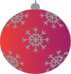 Xmas ornament vector