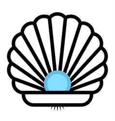 Sea shell icon vector