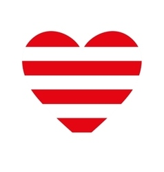 Heart love red stripes vector