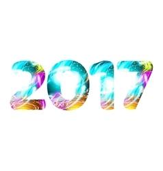 year Light Shine symbol neon character vector image